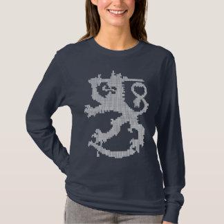 T-shirt Douille des femmes blanches de lion de Sisu la