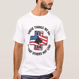 T-shirt Douille long du SAR des hommes