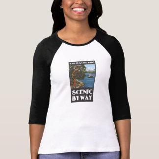 T-shirt Douille T de dames pittoresques de chemin détourné