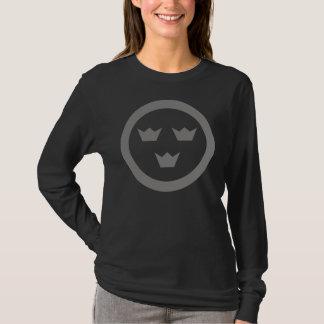 T-shirt Douille T de rondeau suédois de dames longue
