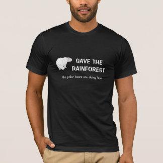 T-shirt d'ours blanc de forêt tropicale