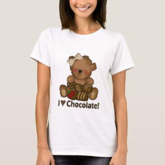 T-shirt d'ours de nounours de chocolat