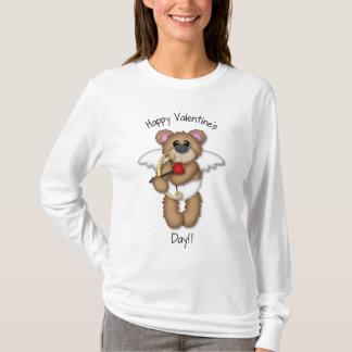 T-shirt d'ours de nounours de cupidon de jour de