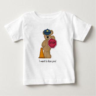 T-shirt d'ours de nounours de policier