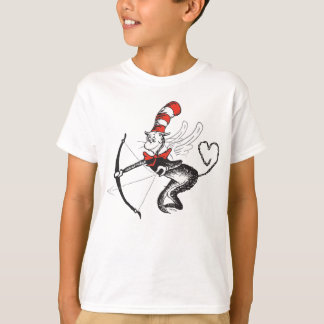T-shirt Dr. Seuss Valentine   le chat dans le cupidon de