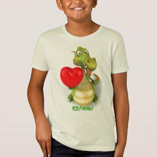 T-Shirt Dragon amical d'Eco
