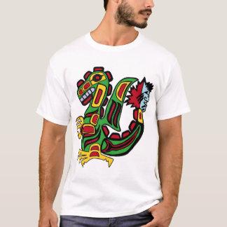 T-shirt dragon de Haida de couleur
