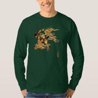 T-shirt Dragon de léopard de neige d'équitation de