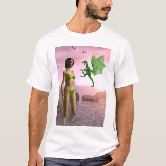 T-shirt Dragon de plage