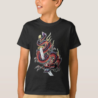 T-shirt Dragon japonais Katana de Sui Riu
