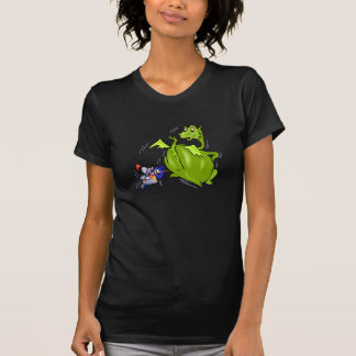 T-shirt Dragon moyen poussé par le chevalier