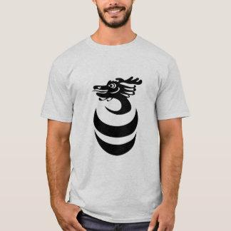 T-shirt Dragon noir dans la chemise d'oeufs