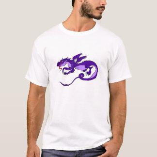 T-shirt Dragon pourpre volant