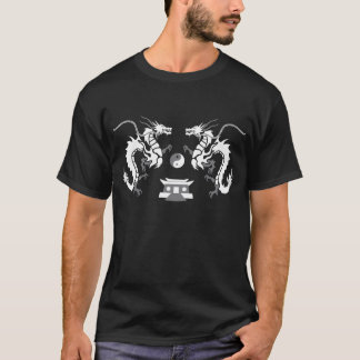 T-shirt Dragons Tribals Dark