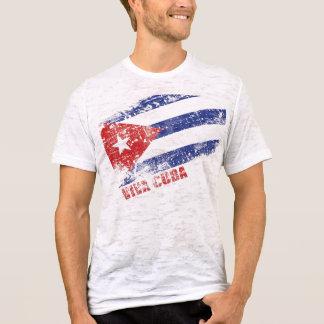 T-shirt Drapeau affligé par Cuba de vivats