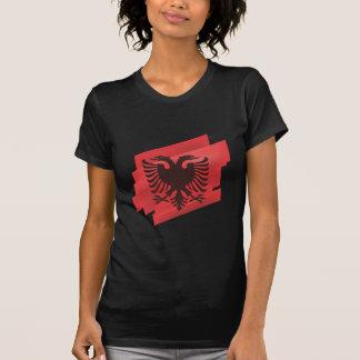 T-shirt Drapeau albanais d'aigle