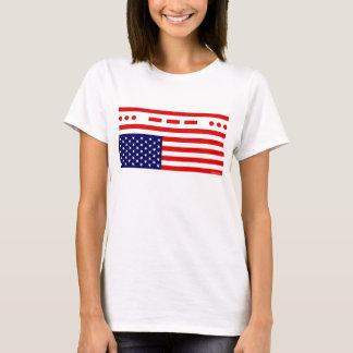 T-shirt Drapeau américain de détresse de SOS