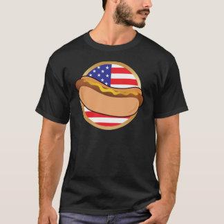 T-shirt Drapeau américain de hot-dog