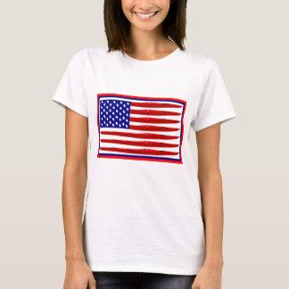 T-shirt Drapeau américain de kayak