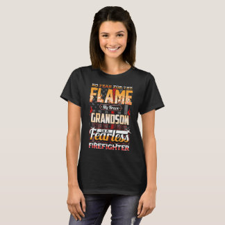 T-shirt Drapeau américain de sapeur-pompier de petit-fils