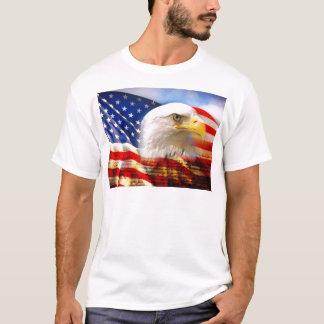 T-shirt Drapeau américain Eagle chauve