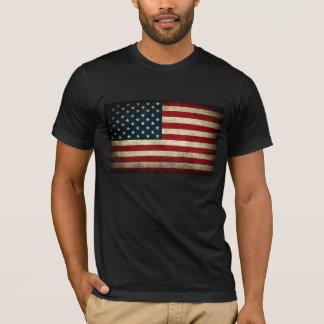 T-shirt Drapeau américain grunge