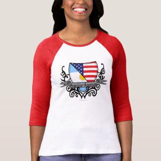 T-shirt Drapeau Argentin-Américain de bouclier