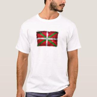 T-shirt Drapeau Basque affligé de style : Ikurriña,