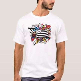 T-shirt Drapeau Bretagne Breizh graffiti Breton graff