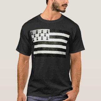 T-shirt Drapeau Bretagne Vintage