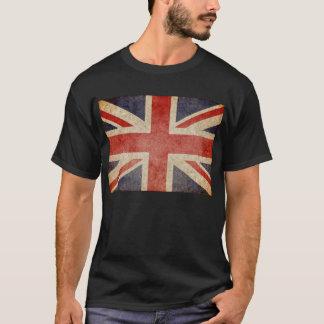 T-shirt Drapeau BRITANNIQUE fané