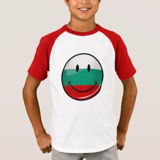T-shirt Drapeau bulgare de sourire de rond brillant