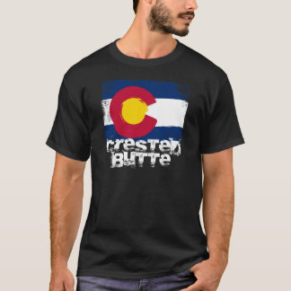 T-shirt Drapeau crêté de grunge de butte