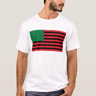T-shirt Drapeau d'Afro-américain - noir et vert rouges