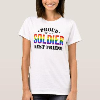 T-shirt Drapeau d'arc-en-ciel de gay pride de meilleur ami