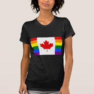 T-shirt Drapeau d'arc-en-ciel du Canada