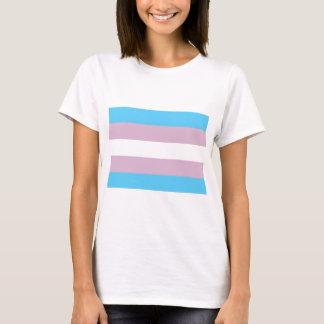 T-shirt Drapeau de base de transsexuel