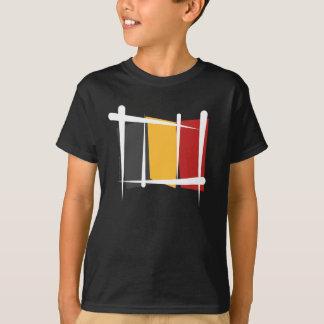 T-shirt Drapeau de brosse de la Belgique