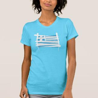 T-shirt Drapeau de brosse de la Grèce