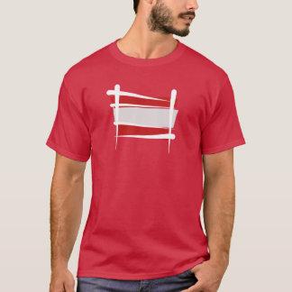 T-shirt Drapeau de brosse de l'Autriche