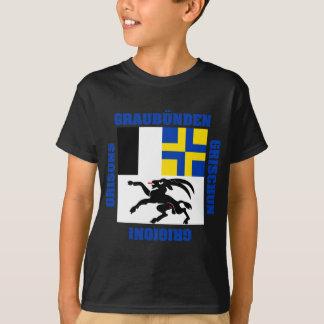 T-shirt Drapeau de canton de Graubunden Suisse