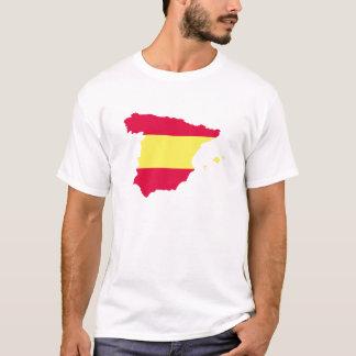 T-shirt Drapeau de carte de l'Espagne