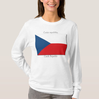 T-shirt Drapeau de chemise de République Tchèque