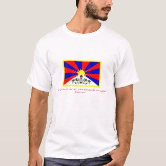 T-shirt Drapeau de citation Dalaï lama du Thibet