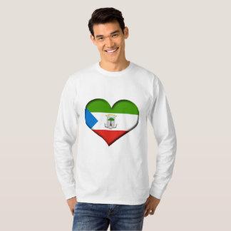 T-shirt Drapeau de coeur de Guinée équatoriale