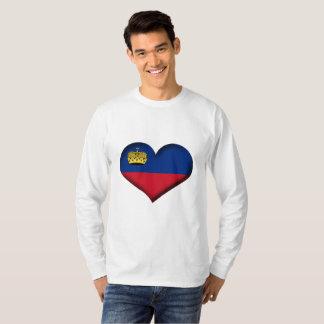 T-shirt Drapeau de coeur de la Liechtenstein
