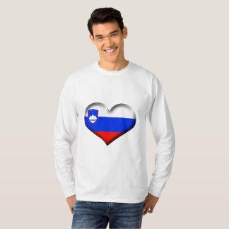 T-shirt Drapeau de coeur de la Slovénie
