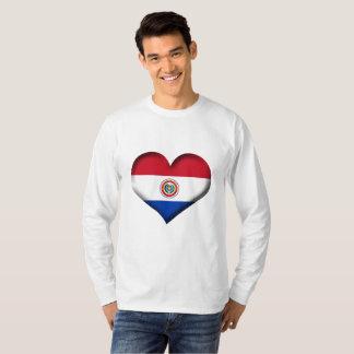 T-shirt Drapeau de coeur du Paraguay