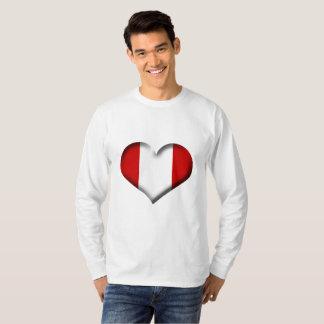 T-shirt Drapeau de coeur du Pérou