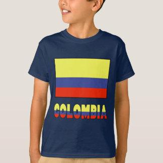 T-shirt Drapeau de Colombie et frontière de nom